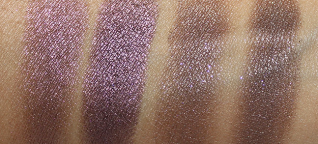 Beauty blogger Miss Beauty Adikt demonstrates two eyeshadow shades with and without water.